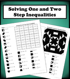 Solving One and Two Step Inequalities Color Worksheet