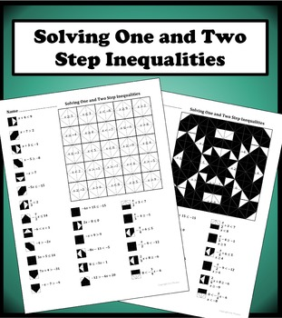 Solving One and Two Step Inequalities Color Worksheet by Aric Thomas