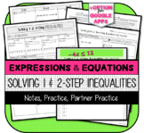 Solving One- and Two-Step Inequalities: Notes, Practice, Partner Activity