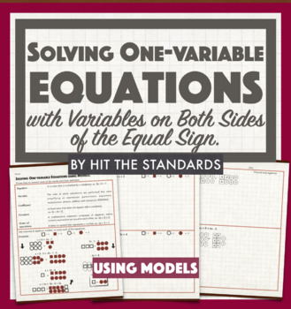 Solving One Variable Equations using MODELS (Concrete & Pictorial)!