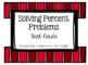 Solving Percent Problem Task Cards