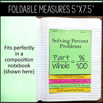 Solving Percent Problems Flip Book / Foldable