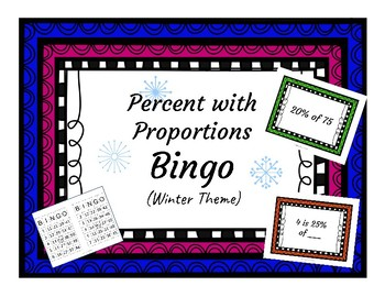 Solving Percent Problems with Proportions Bingo