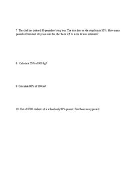 Solving Percent Word Problems