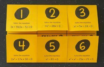 Solving Quadratics by Factoring/ Zero Product Property (Algebra Foldable)