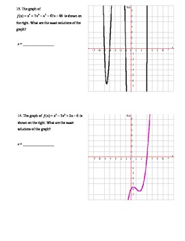 Solving Polynomial Equations Quiz