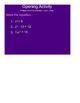 Solving Polynomials Equations in Factored Form SmartBoard Lesson