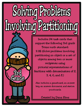 Solving Problems Involving Partitioning (TEKS 3.3E) STAAR Practice