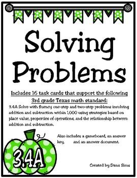 Solving  Problems (TEKS 3.4A) STAAR Practice