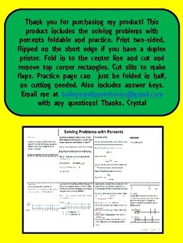 Solving Problems With Percents 6.RP.3