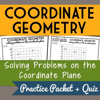 Solving Problems on the Coordinate Plane, 5th Grade Geometry, Lesson Packet