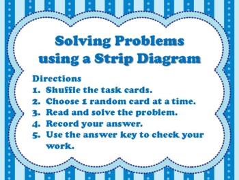 Solving Problems using a Strip Diagram (aligned to TEKS in Gr 3-5 & CC Gr 3-4)
