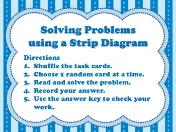 Solving Problems using a Strip Diagram (aligned to TEKS in Gr 3-5 & CC Gr 3-4)