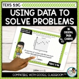 Solving Problems with Data and Graphs   Boom Cards Distanc