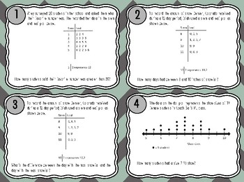 Solving Problems with Data from Graphs Task Cards 5.9C