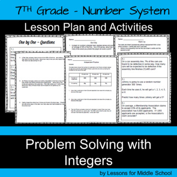 Solving Problems with Integers  – 7th Grade Number System