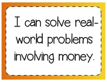 Solving Problems with Money Interactive Notebook & Quick Check TEKS 4.8C