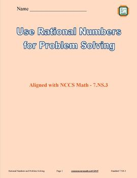 Solving Problems with Rational Numbers Full Lesson Bundle - 7.NS.3