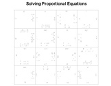 Solving Proportional Equations Fun Square Puzzle