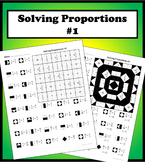 Solving Proportions #1 Color Worksheet