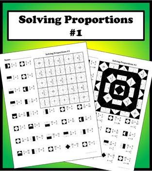 Solving Proportions 1 Color Worksheet By Aric Thomas Tpt