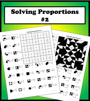 Solving Proportions 2 Color Worksheet By Aric Thomas Tpt