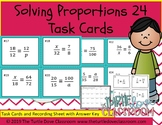 Solving Proportions 24 Task Cards with Recording Sheet and Answer Key