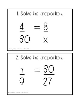 Solving Proportions Activity