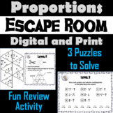 Solving Proportions Activity: Algebra Escape Room Math