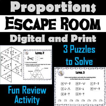 Solving Proportions Activity: Algebra Escape Room Math