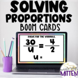 Solving Proportions Interactive Boom Cards Activity