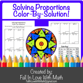 Proportions Coloring Teaching Resources Teachers Pay Teachers