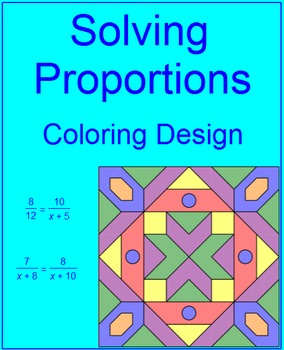 Proportions Coloring Activity Teaching Resources Teachers Pay Teachers