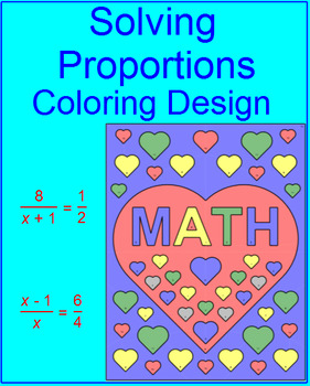 PROPORTIONS:  SOLVING PROPORTIONS - COLORING ACTIVITY # 3