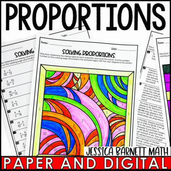 Solving Proportions Coloring Page Activity