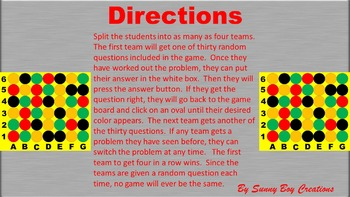 Solving Proportions Connect 4 Powerpoint Game