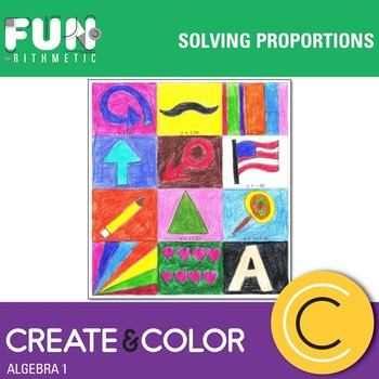 Solving Proportions Create and Color Freebie