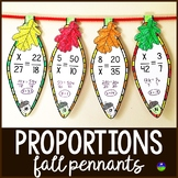 Thanksgiving Solving Proportions Math Pennant Activity