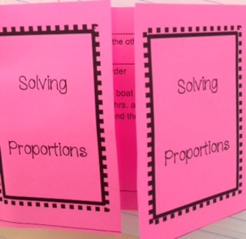 Solving Proportions Foldable