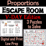 Solving Proportions Game: Escape Room Valentine's Day Math Activity