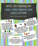 Solving Proportions: Giant Story Problem Task Cards/Stations