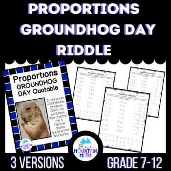 Solving Proportions Groundhog Day Quotable