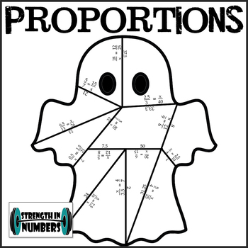Solving Proportions Halloween Ghost Partner Puzzle for Display