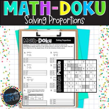 Solving Proportions Math-Doku; Geometry, Sudoku, Similarity