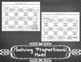 Solving Proportions Maze