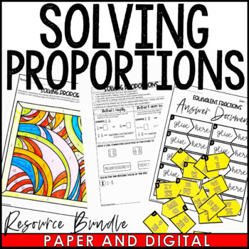 Solving Proportions Lesson Bundle