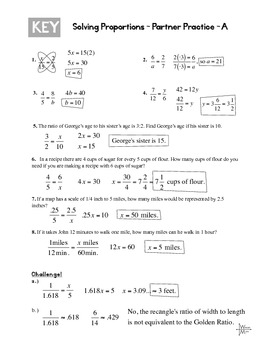 Solving Proportions Partner Practice Worksheet By The Wright Math
