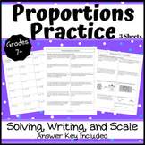 Solving Proportions Practice - Word Problems, Scale