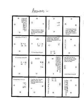 Solving Proportions Puzzle