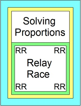 Solving Proportions - RELAY RACE (9 rounds of 4 problems)